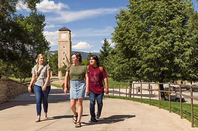 FLC students walking on campus