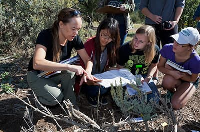 Students of Biological Anthropology working in the field