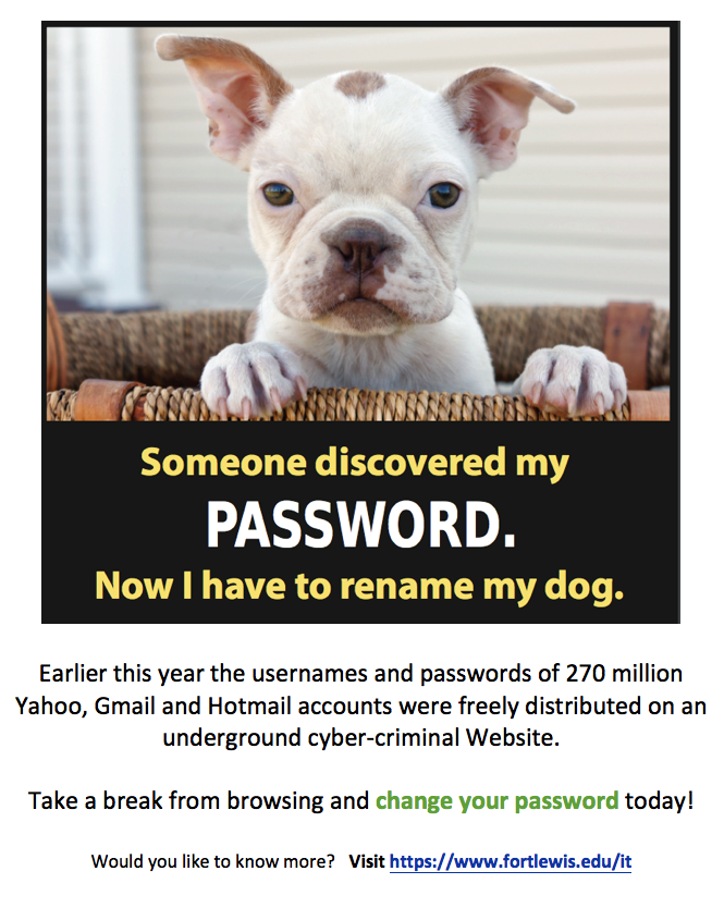 someone discovered my password poster