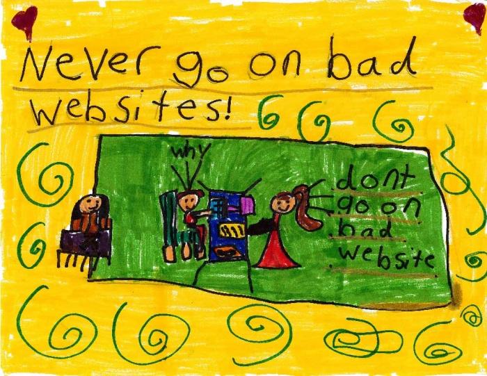 never go on bad websites poster
