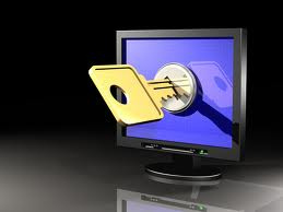 key in a computer monitor