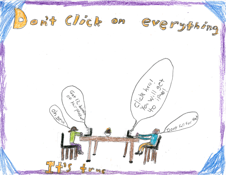 don't click on everything poster