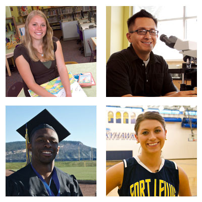 Fort Lewis College student photo collage