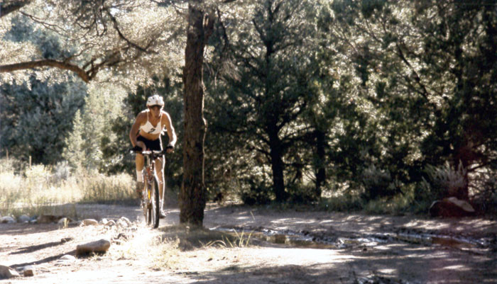 Early mountain biking on FLC's Factory Trails.