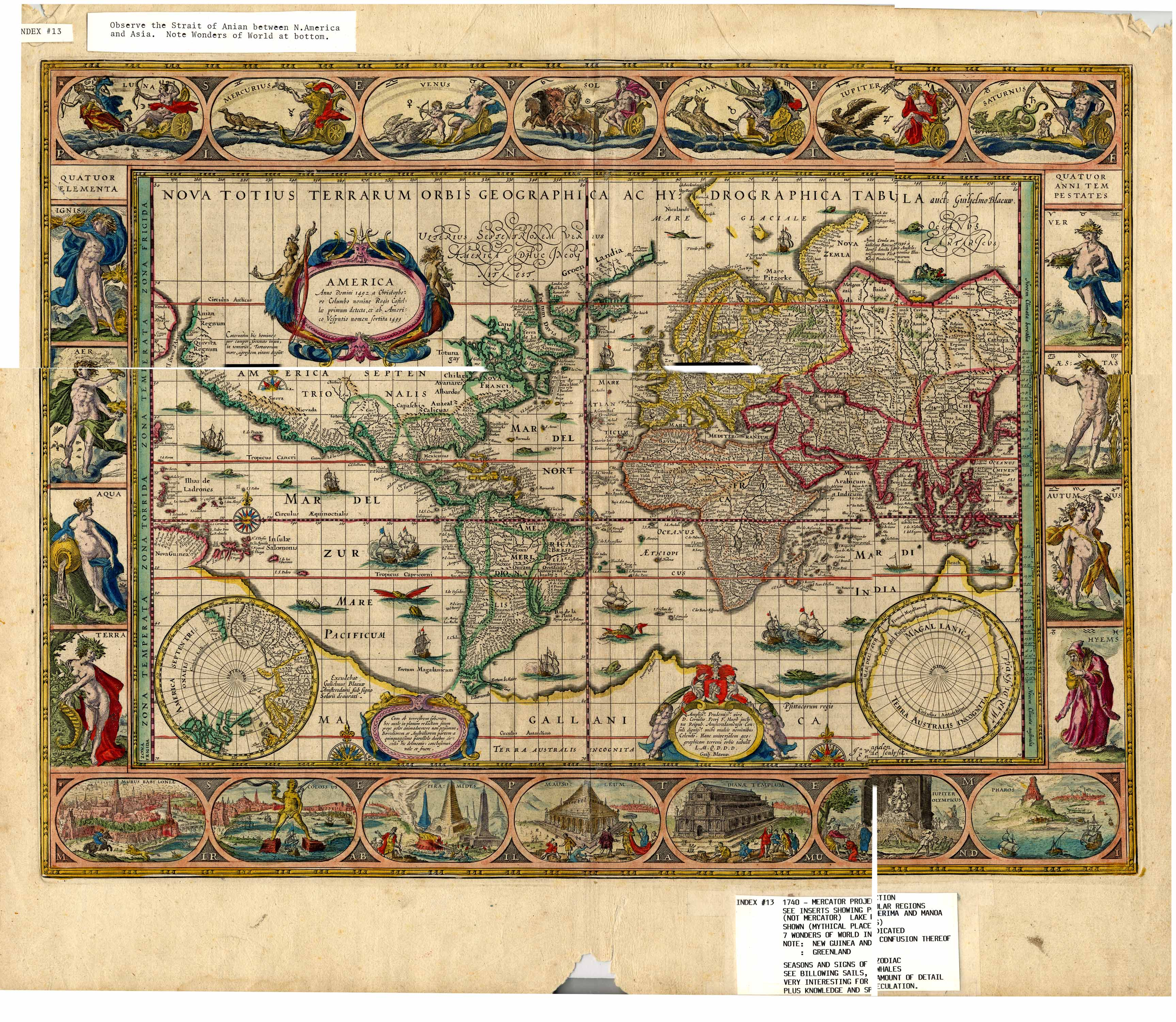 Collection C 003: Cutter maps of the world, at the Center of ... on