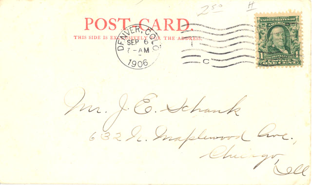 Post Card Era Undivided Back 1901 1907
