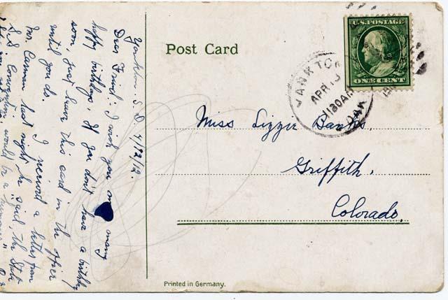 Post card image (address side)