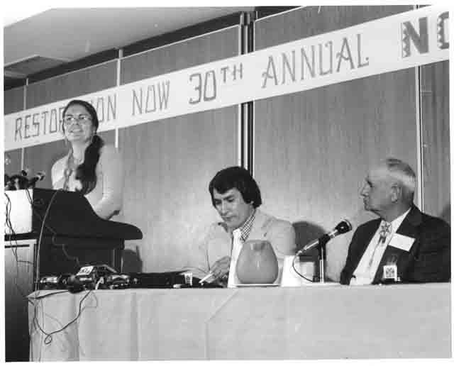 Ada Dear speaking at NCAI, photo