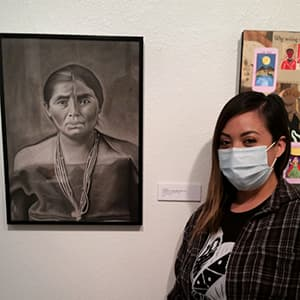 60th Student juried exhibition 2nd place winner, AJ Begay