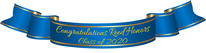 Congratulations Reed Honors Class of 2020 banner