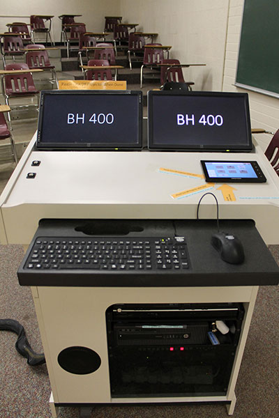 Berndt Hall room 400 workstation