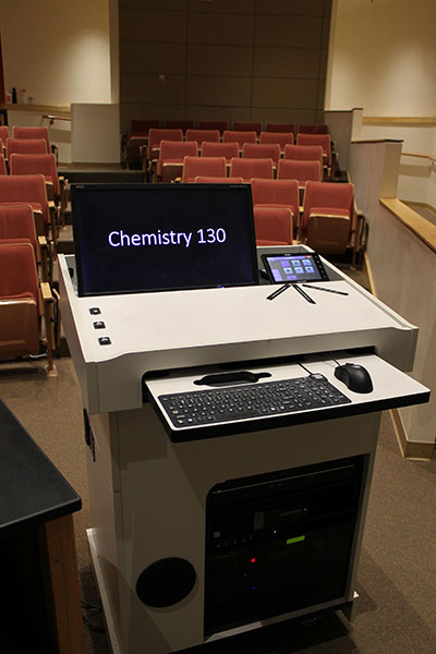 Chemistry 130 workstation and projector controls
