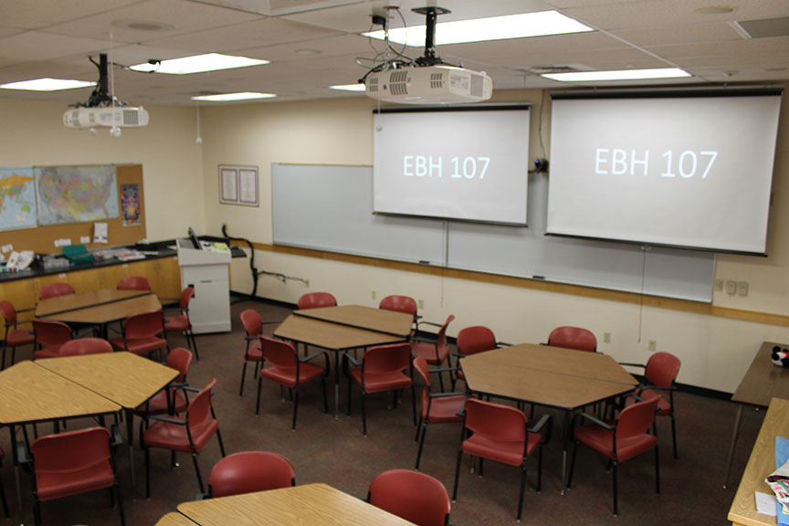 EBH 107 classroom view