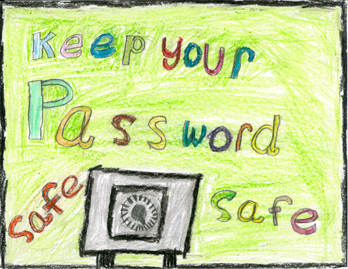 keep your password safe poster